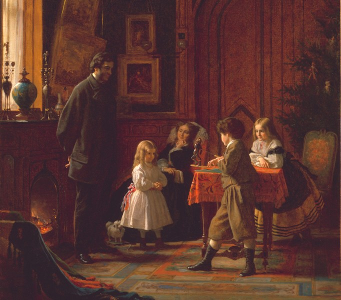 Eastman_Johnson_-_Christmas-Time,_The_Blodgett_Family